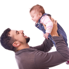 parental anxiety - photo of anxious dad with child